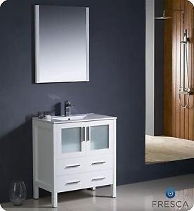"Torino Bathroom Vanity- 24, 30, 36, 42, 48, 54, 60, 72, 83 & 96"""