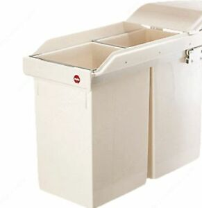 Slide out waste bin