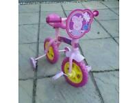 Peppa pig first bike