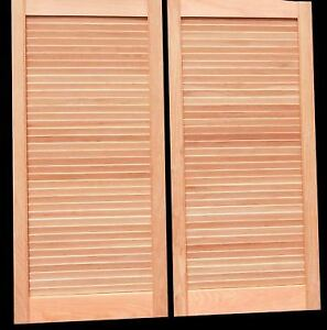 Swinging Louvered CAFE DOORS (30 Inch Tall X 17 1/8 Inch Wide)