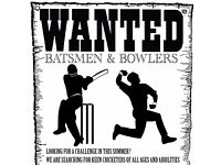 CAN YOU PLAY CRICKET! PLAYERS WANTED TO JOIN A SATURDAY LEAGUE TEAM (ARE YOU UP FOR A CHALLENGE)