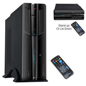 New-Black-Micro-ATX-Media-Centre-PC-Case-with-Remote