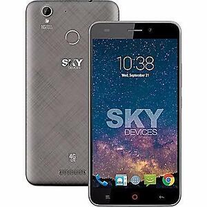 "Sky Devices Elite 5.5"" Unlocked Cell Phone, 1.3 GHz Octa Core, 16 GB, Grey"
