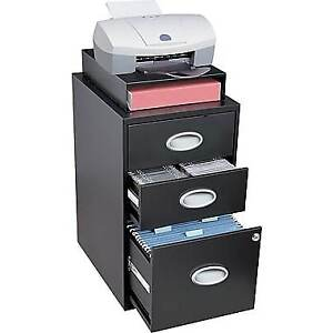 Situations 3-Drawer File and Storage Cabinet, Black BNIB!