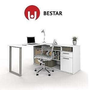 NEW BESTAR L-SHAPED DESK WHITE - 128504612