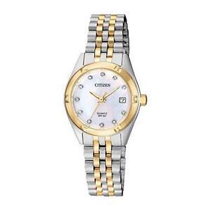 Citizen Women's Quartz Stainless Steel Casual Watch, Color:Two T  EU6054-58D