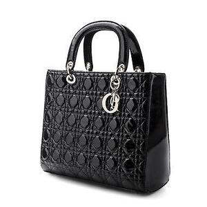 Black Patent Quilted Bags