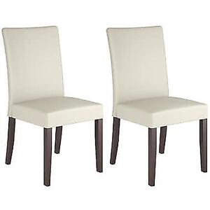 CorLiving DRC-885-C Atwood Cream Leatherette Dining Chairs