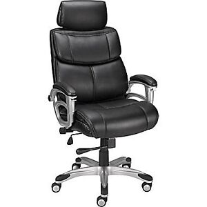 Staples Poynter Manager's Chair with Adjustable Arms, Black