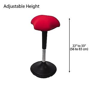 Adjustable Wobble Chair Black office chair