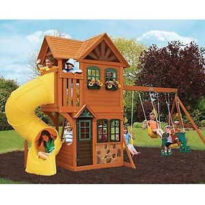 Looking for cedar playset with tube slide, within HRM
