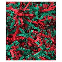 Red and Green Crinkle Paper for Gift Baskets