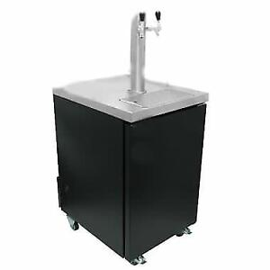 Black Kegerator / Beer Dispenser with 2 Tap Tower . *RESTAURANT EQUIPMENT PARTS SMALLWARES HOODS AND MORE*