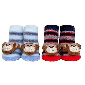 Brand New Waddle Monkey Rattle Socks (2 pairs in gift box)