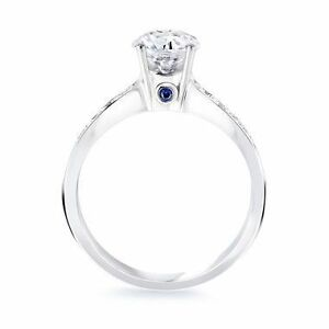Birks Blue Engagement Ring