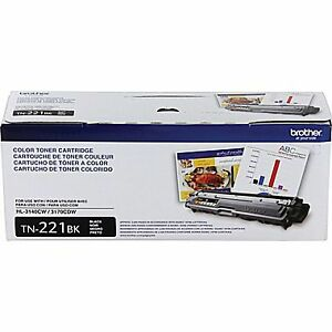 BROTHER TONER CARTRIDGE ( TN-221BK ) sealed never opened.