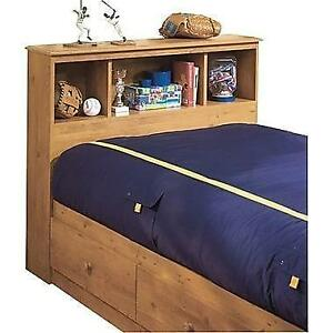 South Shore Little Treasures Collection Twin Bookcase Headboard, Country Pine Model: 3432098