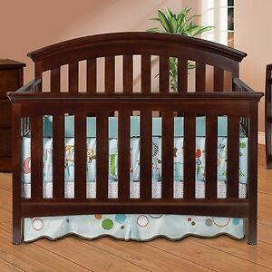 4-IN-1 CRIB, CHANGE TABLE, MATTRESS AND BEDDING SET  -NEVER USED
