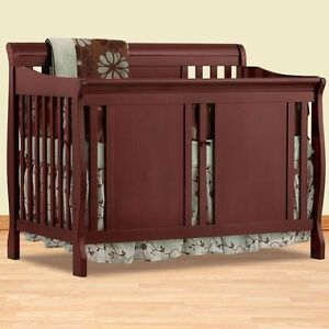 2 in 1 Convertible crib infant/toddler/ single bed + matress