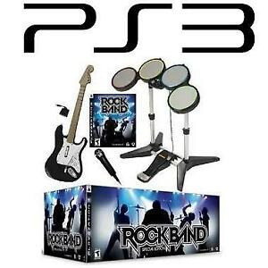 NEW PS3 ROCK BAND SPECIAL EDITION 228479523 ROCKBAND VIDEO GAMES PLAYSTATION 3 CONSOLE