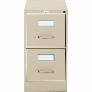 Letter File Cabinet, 2-Drawer, Sand