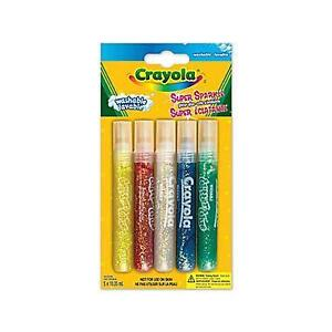 Brand New Crayola® Super Sparkle Glitter Glue, 5 per Package, 12/Pack