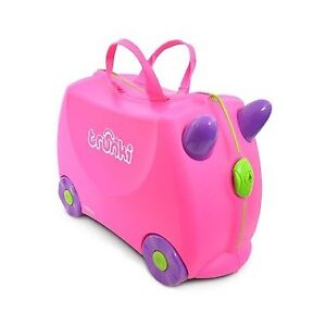 Trunki Trixie Pink kids carry-on suitcase