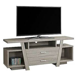 "Monarch I 2721 TV Stand with 2 Storage Drawers, 60""L, Dark Taupe"