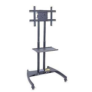 Luxor® Adjustable Height Flat Panel TV Stand and Mount Cart, Grey *boxed*
