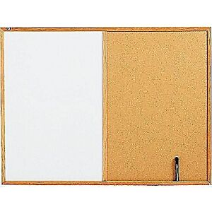 Dry-Erase and Cork Board Combination