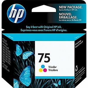 INK HP75 Tricolor and one B and one C cartridge - NEW