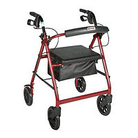 Medical Rollator Walker w/ Removable Back Support & Padded Seat