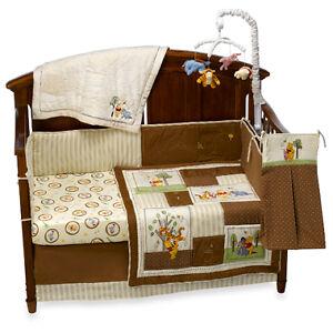 4p Disney Winnie The Pooh Day In The Park Unisex Baby Crib Beddin