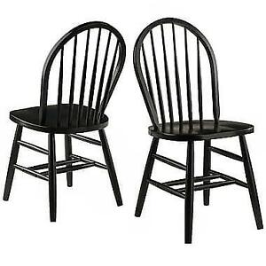 New Winsome Wood Windsor Chair 2-Piece Set PU1