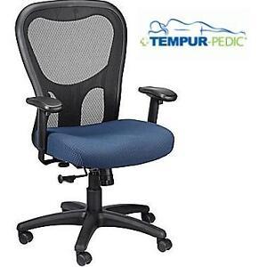 NEW TP ERGONOMIC TASK OFFICE CHAIR TEMPUR-PEDIC ERGONOMIC MESH HIGH BACK TASK CHAIR NAVY BLUE 109764204