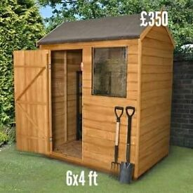 Brand new delivered and assembled garden sheds and summerhouses.