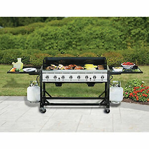 NEW COMM/EVENT BBQ 116,000BTU 52X24 COOK SURFACE W/FITTED COVER