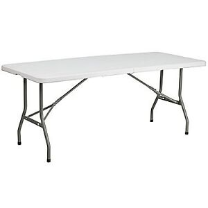 "72"" Rectangular Folding Table by Lifetime"