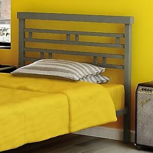 Amisco Sentinel Twin Size Metal Headboard & Footboard