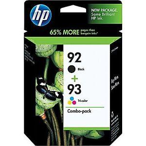 HP 92 93 Ink Combo Pack .... 92/93 .. P/N C9513FC .. P/N C9513FN