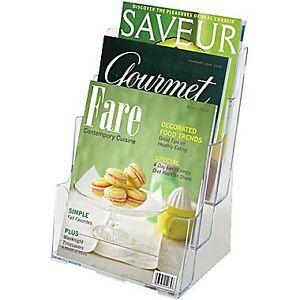 Multi Pocket Clear Acrylic Magazine or Brochure Holder