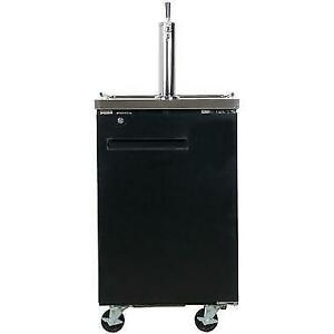 Black Kegerator / Beer Dispenser with 1 Tap Tower - (1) 1/2 Keg . *RESTAURANT EQUIPMENT PARTS SMALLWARES HOODS AND MORE*
