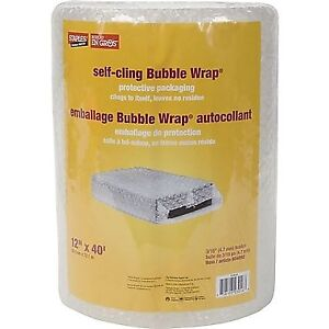 """Self-Cling Bubble Wrap*, 12"""" x 40' Roll, 3/16"""" Thick BRAND NEW"""