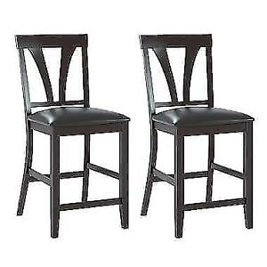 CorLiving Bistro Dining Chairs in Chocolate Black set of 2. New