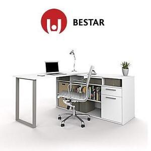 NEW BESTAR L-SHAPED DESK WHITE - 128504612