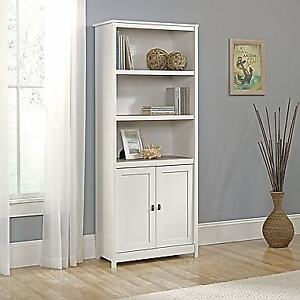 Sauder Cottage Road Library With Doors - NEW