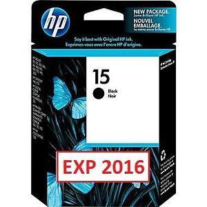 NEW HP 15 BLACK INK CARTRIDGE HP 15 Black Original Ink Cartridge (C6615DN) 100678913