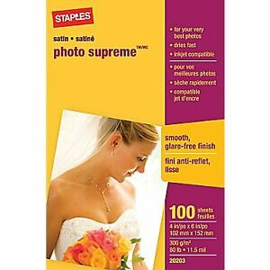 Brand new, unopened box of 100 sheets of Photo Supreme paper