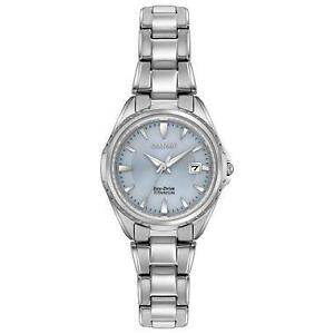 Citizen Women's ' Quartz Titanium Casual Watch, Color:Silver-Ton  EW2410-54L