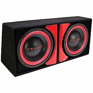 """Powered Dual 12"""" Car Subwoofer System with built in AMP"""